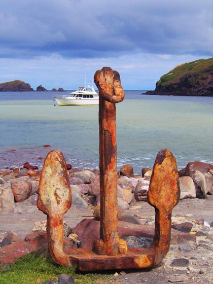 Anchor on White Island, New Zealand
